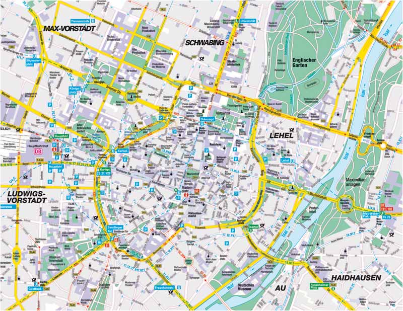MAP OF MÜNCHEN | ColoradoMap.org Munich Map