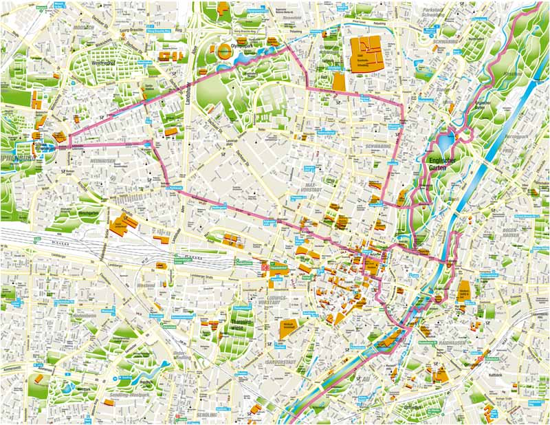 Munich Bike Tours Sightseeing Tours M nchen Fahrradverleih – Munich Tourist Map